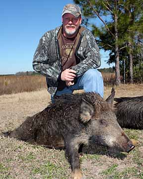 Tim with his nice boar