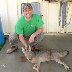 Gary, down from Pennsylvania, with his young coyote