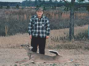 77-year-old Bill R. with his first deer ever