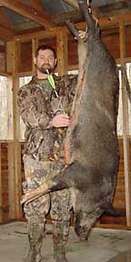 VA's Steven with his bow kill boar