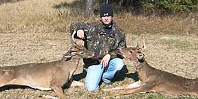 Mathew and his two late December bucks