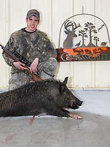 Pete with his 118lb boar