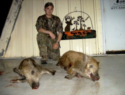 Russ with his 2 nice hogs