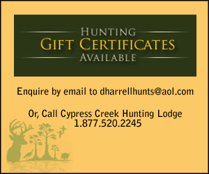 Contact Cypress Creek Hunting Lodge, Hunting Gift Certificate