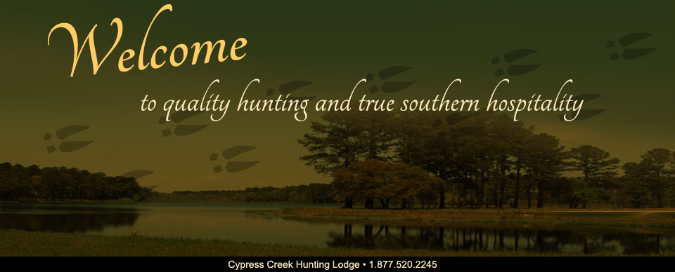 Welcome to Cypress Creek Hunting